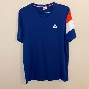Le Coq Sportif Boyfriend Tee w/ Tricolores Sleeve
